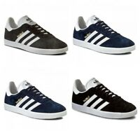Adidas Originals Mens Gazelle Trainers Casual Shoes Black Navy Grey Size