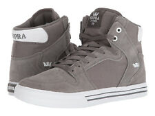 NEW NEW SUPRA VAIDER CHARCOAL WHITE SURF BMX SNOW SKATEBOARD SPORTS SHOES 12