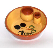 Spanish Ceramic Handpainted Terracotta Olive Dish