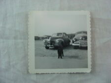 Vintage Car Photo 1940 Dodge 1949 Buick & Poodle Dog 821