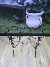 PAIR of Vintage RETRO Pot PLANT Stands HOLDER Scrolled METAL QZZQ Adelaide