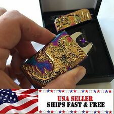 Rainbow Dragon Dual Arc Electric USB Lighter Rechargeable Flameless Plasma Coil