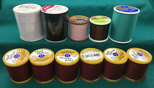 VARIOUS Colors & Types of Thread - 11 spools new