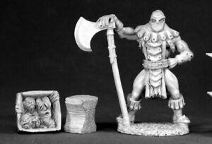 Reaper Miniatures Logar the Executioner #02547 Dark Heaven Unpainted Metal
