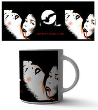LOVE AT FIRST BITE 11 OZ COFFEE MUG TEA CUP ART DECOR VAMPIRE BLOOD DEADT EMO!!!