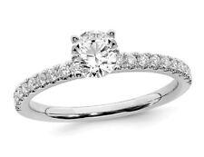 1/2 quilates (CTW G-H-I, SI1-SI2) Lab crecido Diamante Anillo 14K oro