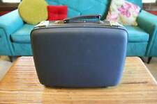 """Vintage Small Blue Suitcase, 16"""" American Tourister Tri-Taper Hard Suit Case"""