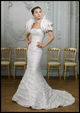 Ian Stuart Muse Wedding Dress w/Bolero - Ivory, 100% Silk, A-Line, Size 6 US