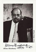Allen Ginsberg Originalautogramm auf Großfoto