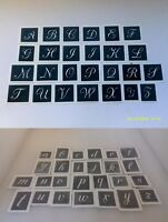 40 x small lower case & capital letter stencil (mix) for etching glass alphabet