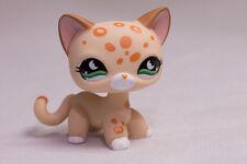 *Littlest Pet Shop* LPS #852 spotted Leopard w/green half Moon Eyes near MINT