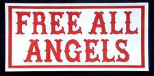 Hells Angels Support Aufkleber FREE ALL ANGELS Original 81 Support Sticker