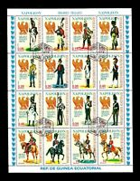 Republic De Guinea Ecuatorial Napoleon 1974 Stamps Sheet