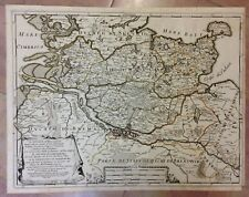 GERMANY SCHLESWIG-HOLSTEIN 1692 GIACOMO DE ROSSI 17e CENTURY LARGE ANTIQUE MAP