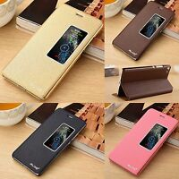 Luxury PU Leather Flip View Window Cover Case Stand For Huawei P8 Huawei P9
