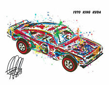 Hot Wheels 1970 King Kuda Redline Car Racing Print Poster Wall Art 8.5x11