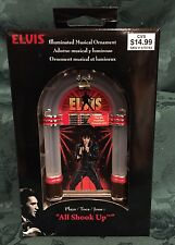 New Elvis Presley All Shook Up Illuminated Musical Ornament Jukebox