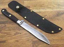 antique Fur trade Carbon Steel cocobolo Pewter bolster RAZOR SHARP hunting Knife
