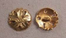 "Set of 6 JHB Gold Round Metal Buttons Sand Dollar 13/16"" 20 mm lyk0039"