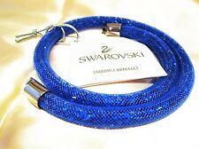 NWT SWAROVSKI STARDUST COBALT BLUE DUBLE BRACELET 15.5 INCH LONG