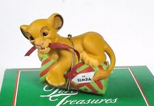 Grolier Disney The Lion King To SIMBA Present Christmas Ornament in box