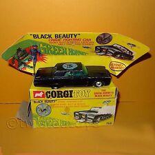 VINTAGE 60s CORGI 268 THE GREEN HORNET BLACK BEAUTY CAR VEHICLE BOXED RARE