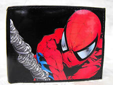 Spiderman Decorated Leather Bilfold Wallet M172