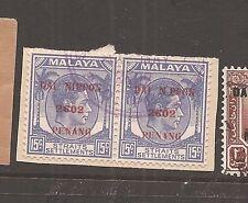 Malaya Jap Oc SG J84,84a on piece VFU (12ayz)