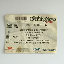 Roger Waters - 21/05/2011 Manchester Arena concert Ticket Stub Pink Floyd