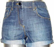 GIRLS LADIES  DENIM SHORTS Denim  FASHION HOTPANTS SIZE 3-14 y ALSO UK 6 8 10 12