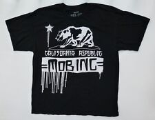 MOB Inc Mens Size XL Black/White California Republic Graphic T Shirt Excellent
