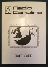 Pirate Radio Caroline original 1976 Advertising Rate Card