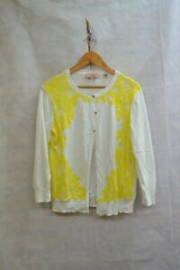 TED BAKER LONDON WHITE CARDIGAN LACE PRICE SIZE - 4 ##RUGCL60