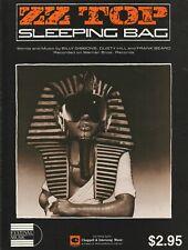 Zz Top Sheet Music: Sleeping Bag Aussie Near Mint 6pp 1985 Hamstein Music