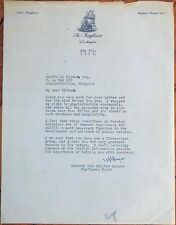 Sir William Duthie Morgan 1951 ALS/Autograph/Signed- Letter-Washington, DC Hotel
