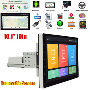 """10.1"""" Removable Screen 1Din Quad Core Android 9.1 Car GPS Nav WiFi MP5 FM Player"""