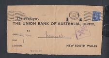 AUSTRALIA 1941 WWII CENSORED INCOMING COVER FRONT LEATHERHEAD TO NEW SOUTH WALES