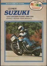 1980-1981 CLYMER SUZUKI MOTORCYCLE GS & GSX1100 FOURS SERVICE MANUAL M378  (474)