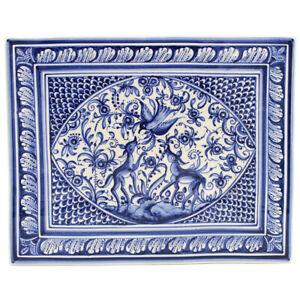 Coimbra XVII Century Pottery Hand-painted Ceramic Platter #160