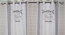 Vorhang MAJE SCHWARZ Gardine 120x240  2 Stück LillaBelle Shabby Landhaus Curtain
