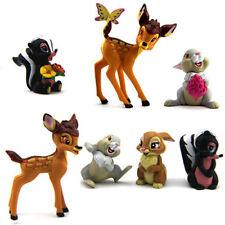 7Pcs/Set Bambi Thumper Flower Bambi Figure Children Toy Kid Birthday Gift