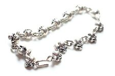 NWT 100% AUTH THIRTEEN DESIGNS 925 SILVER TINY SKULL BRACELET $500 MADE IN JAPAN