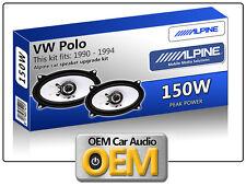 VOLKSWAGEN VW POLO PORTELLONE POSTERIORE SPEAKER Alpine 4x6 altoparlante auto