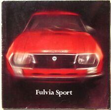 1970-72 LANCIA FULVIA SPORT ZAGATO 1.3 S - 1.6 S brochure originale ITA-FR-EN-DE