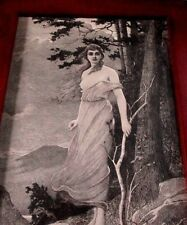 Engraving, Young Girl, Nudity! 1892 Copywright, Gebbe & Co. Estate sell find!