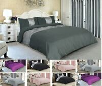 Luxury Duvet Quilt Cover With Pillowcases PANEL VELVET Bedding Set Quilted