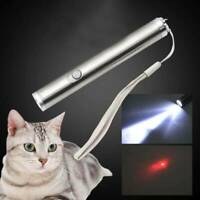New 2 in 1 Red Cat Toys Laser Pointer Pen LED light Funny Pet Supplies New