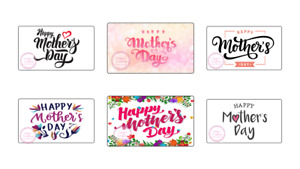 Happy Mothers Day Rectangle Stickers Gift Box Sweet Cones Sweet Hamper Gift Bag
