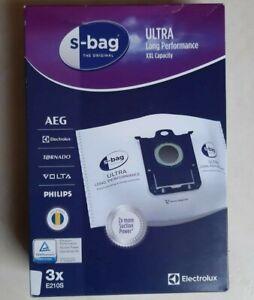 AEG Electrolux Aspirateur E210 S-Bag Ultra Long Effectuer Sacs Paquet De 3