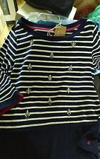 Joules Hip Length Cotton Crew Neck Tops & Shirts for Women